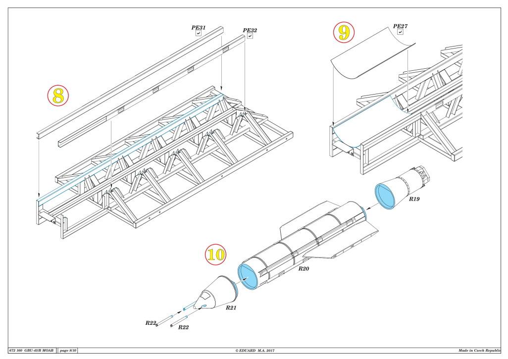 "Eduard_BRASSIN_MOAB_25 GBU-43/B Massive Ordnance Air Blast (""MOAB"") - Eduard BRASSIN 1/72"