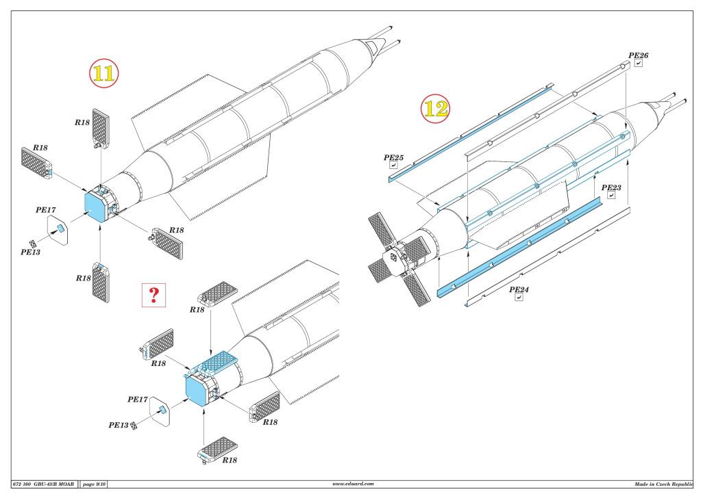 "Eduard_BRASSIN_MOAB_26 GBU-43/B Massive Ordnance Air Blast (""MOAB"") - Eduard BRASSIN 1/72"