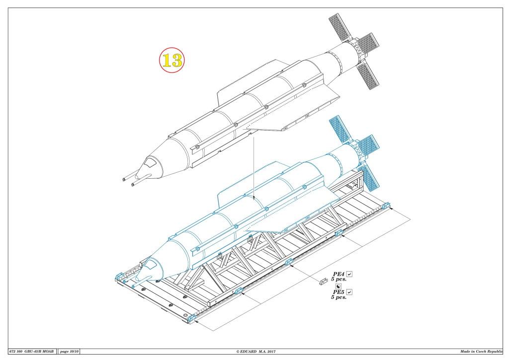"Eduard_BRASSIN_MOAB_27 GBU-43/B Massive Ordnance Air Blast (""MOAB"") - Eduard BRASSIN 1/72"