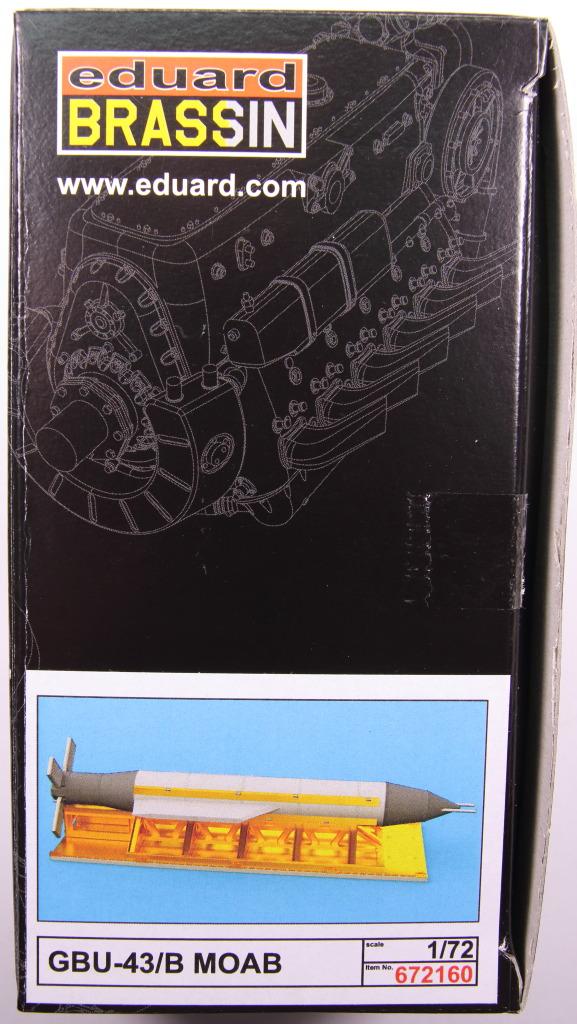 "Eduard_BRASSIN_MOAB_29 GBU-43/B Massive Ordnance Air Blast (""MOAB"") - Eduard BRASSIN 1/72"