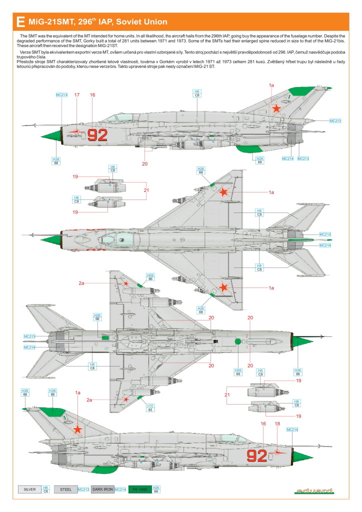 Eduard_MiG-21DMT_49 MiG-21SMT - Eduard 1/48