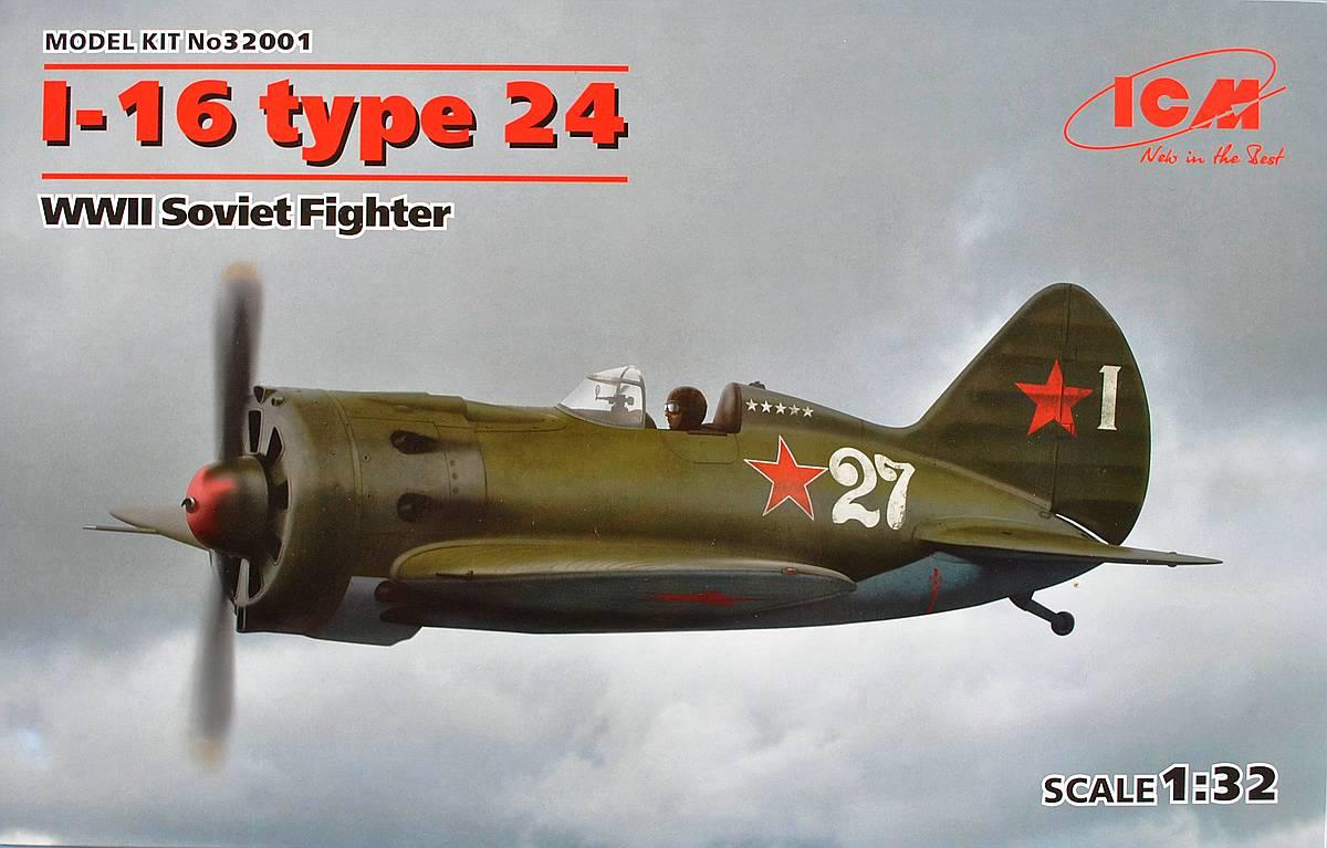 ICM-32001-I-16-Typ-24-1 Polikarpov I-16 Typ 24 in 1:32 von ICM (32001)