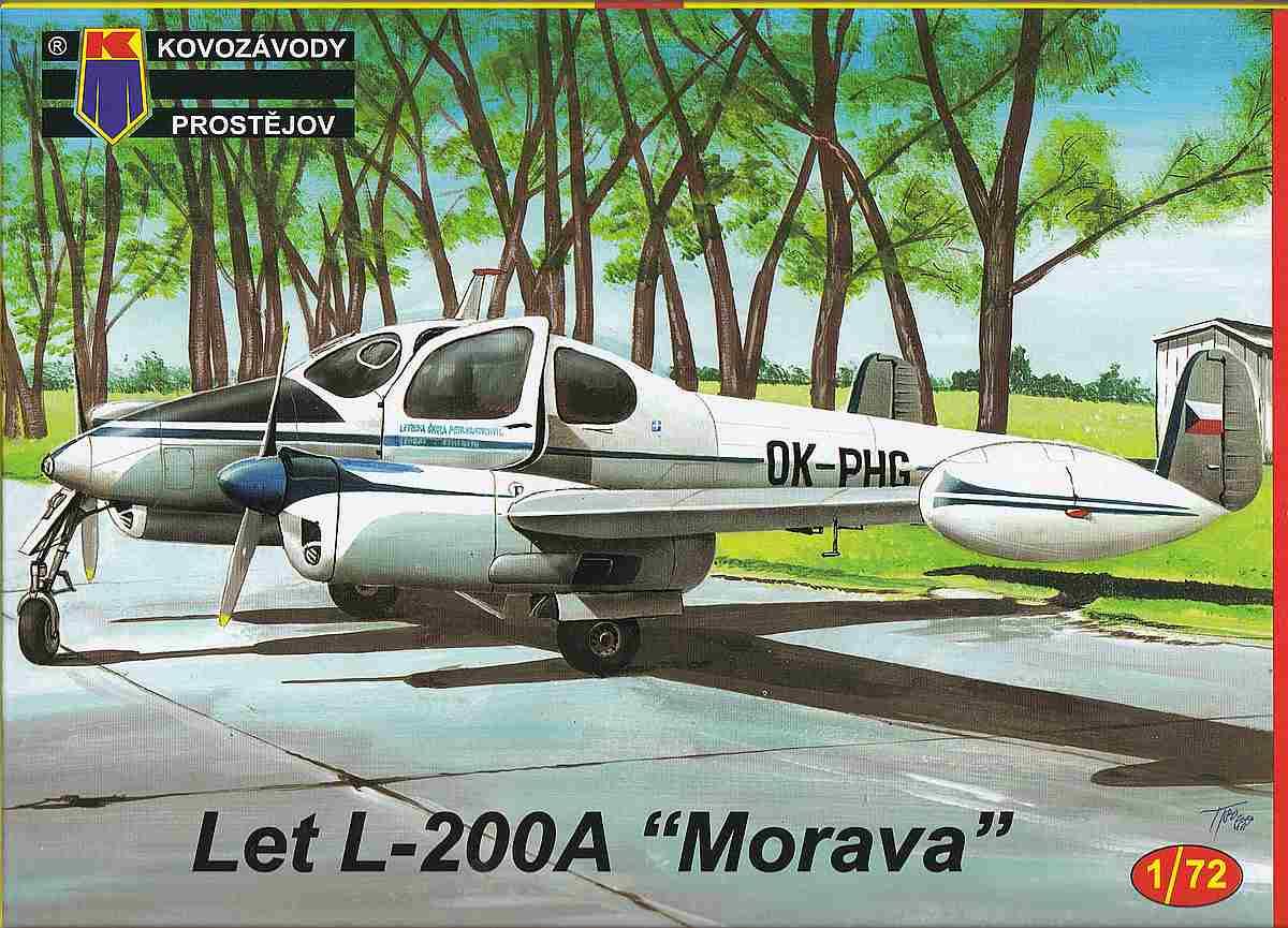 KPM-0089-Let-200A-Morava-12 Let L-200 Morava von KP Models in 1:72 (KPM 0089)
