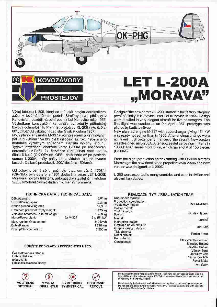 KPM-0089-Let-200A-Morava-15 Let L-200 Morava von KP Models in 1:72 (KPM 0089)