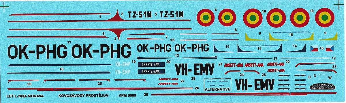 KPM-0089-Let-200A-Morava-17 Let L-200 Morava von KP Models in 1:72 (KPM 0089)