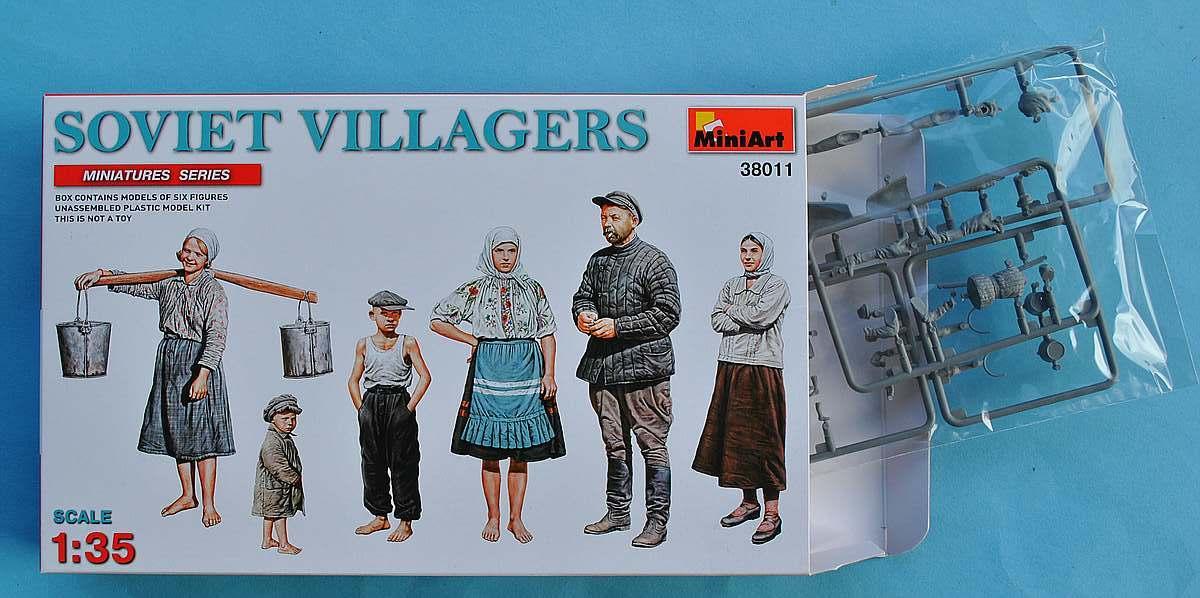 MiniArt-38011-Soviet-Villagers-10 Soviet Villagers in 1:35 von MiniArt (# 38011 )