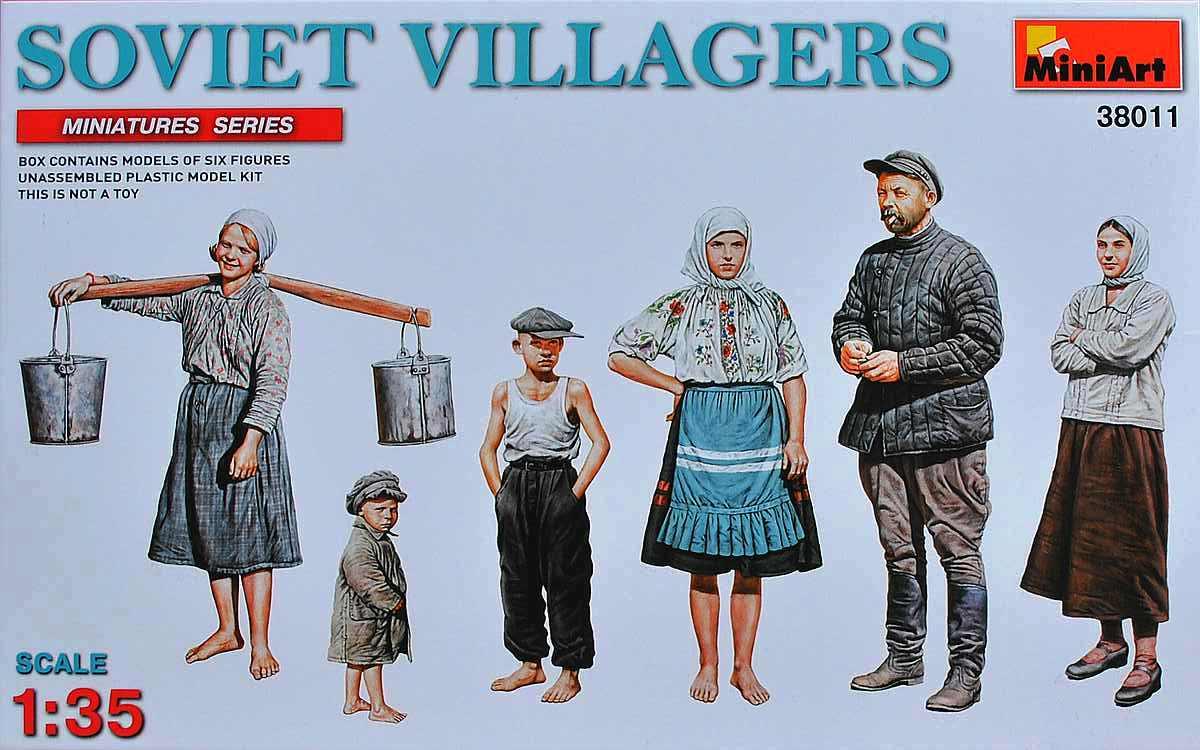 MiniArt-38011-Soviet-Villagers-11 Soviet Villagers in 1:35 von MiniArt (# 38011 )