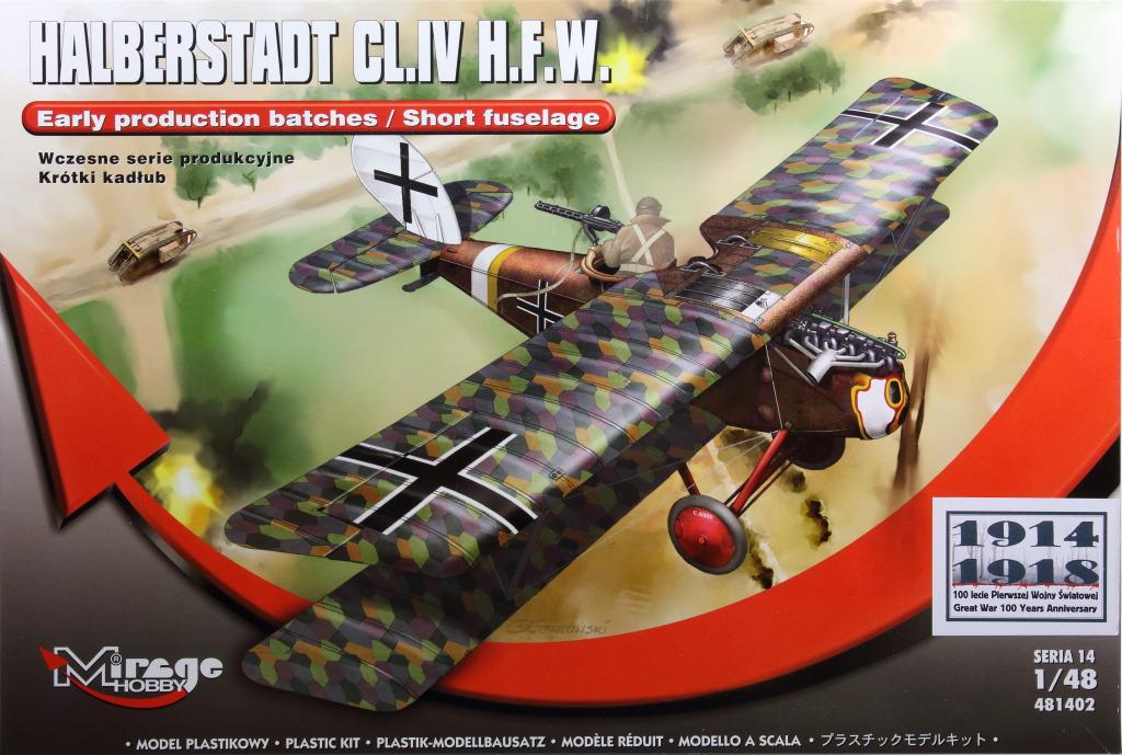 Mirage_Halberstadt_CL.IV_01 Halberstadt CL.IV H.F.W. (frühe Produktion) - Mirage Hobby 1/48