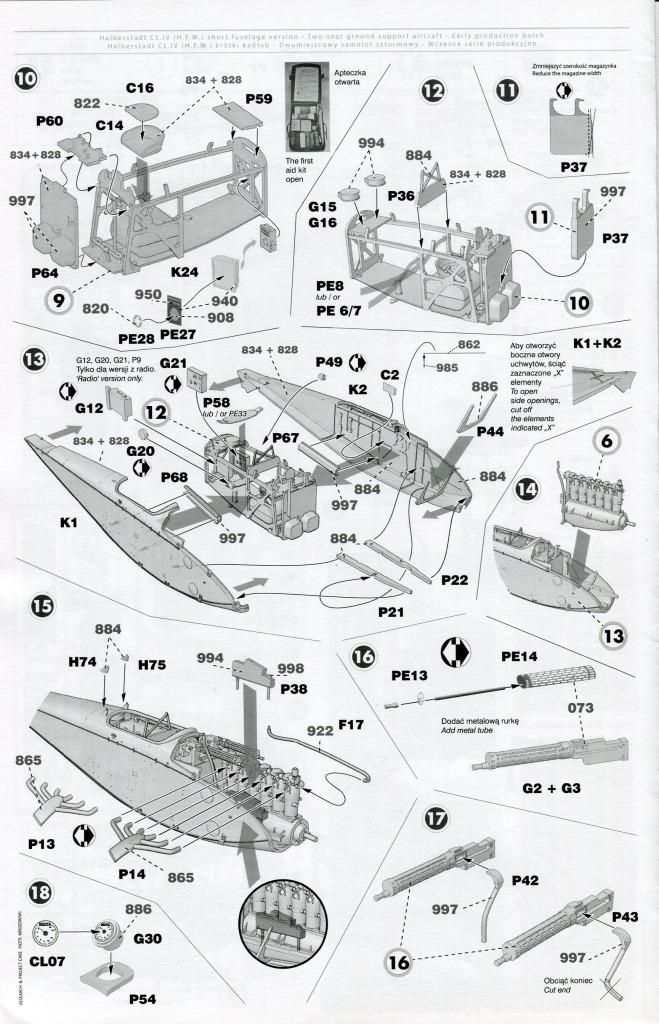 Mirage_Halberstadt_CL.IV_30 Halberstadt CL.IV H.F.W. (frühe Produktion) - Mirage Hobby 1/48