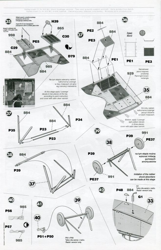 Mirage_Halberstadt_CL.IV_33 Halberstadt CL.IV H.F.W. (frühe Produktion) - Mirage Hobby 1/48