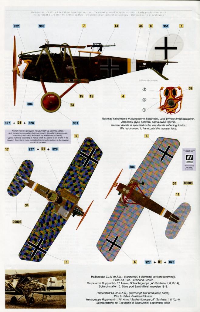 Mirage_Halberstadt_CL.IV_38 Halberstadt CL.IV H.F.W. (frühe Produktion) - Mirage Hobby 1/48