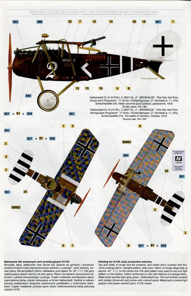 Mirage_Halberstadt_CL.IV_39 Halberstadt CL.IV H.F.W. (frühe Produktion) - Mirage Hobby 1/48