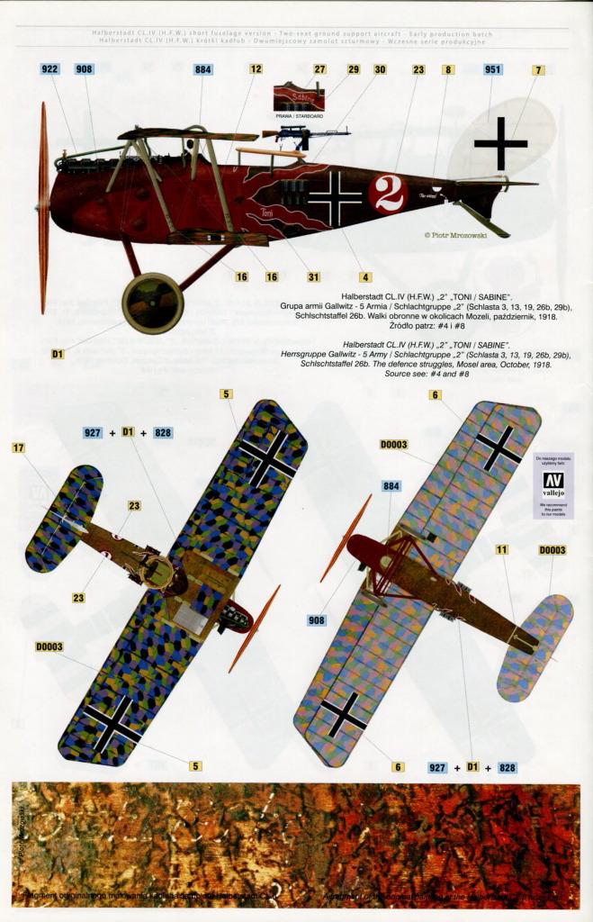 Mirage_Halberstadt_CL.IV_40 Halberstadt CL.IV H.F.W. (frühe Produktion) - Mirage Hobby 1/48