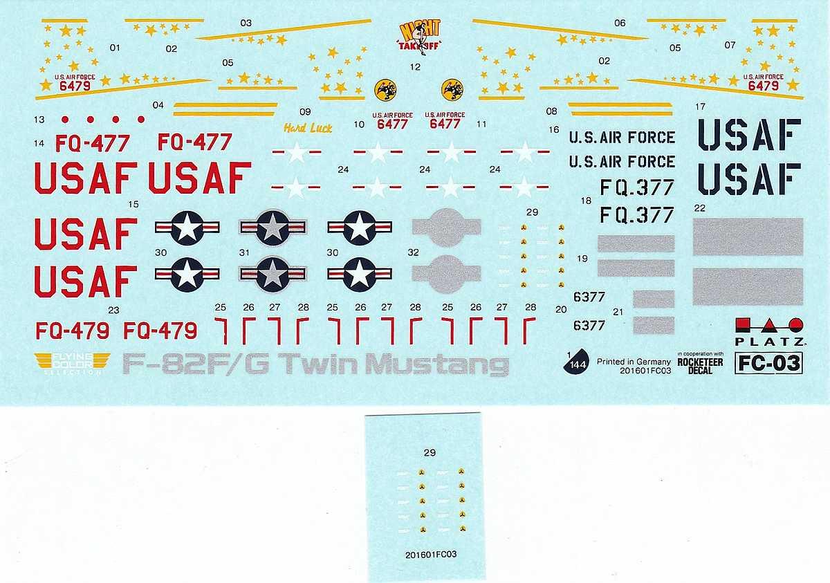 Platz-FC-3-Twin-Mustang-1zu144-11 Twin Mustang in 1:144 von Platz FC-3