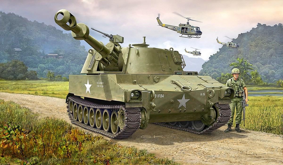 Revell-03265-M-109-US-Army Die REVELL-Neuheiten Herbst 2017 und 1. Quartal 2018