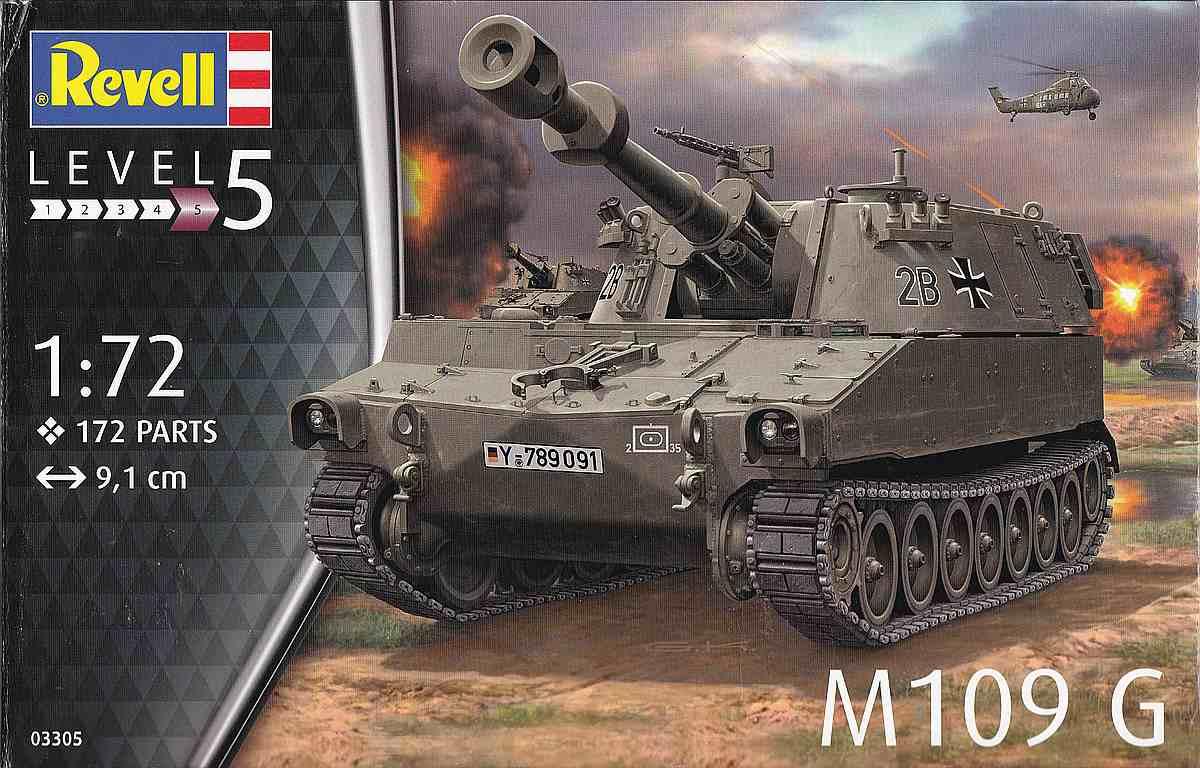 Revell-03305-M-109G-1 Panzerhaubitze M 109G in 1:72 von Revell (Art.Nr. 03305)