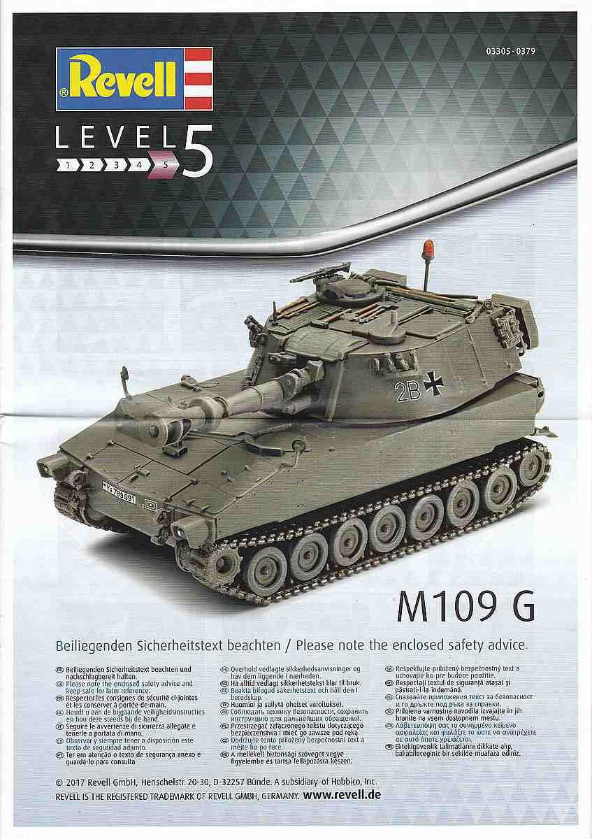 Revell-03305-M-109G-3 Panzerhaubitze M 109G in 1:72 von Revell (Art.Nr. 03305)