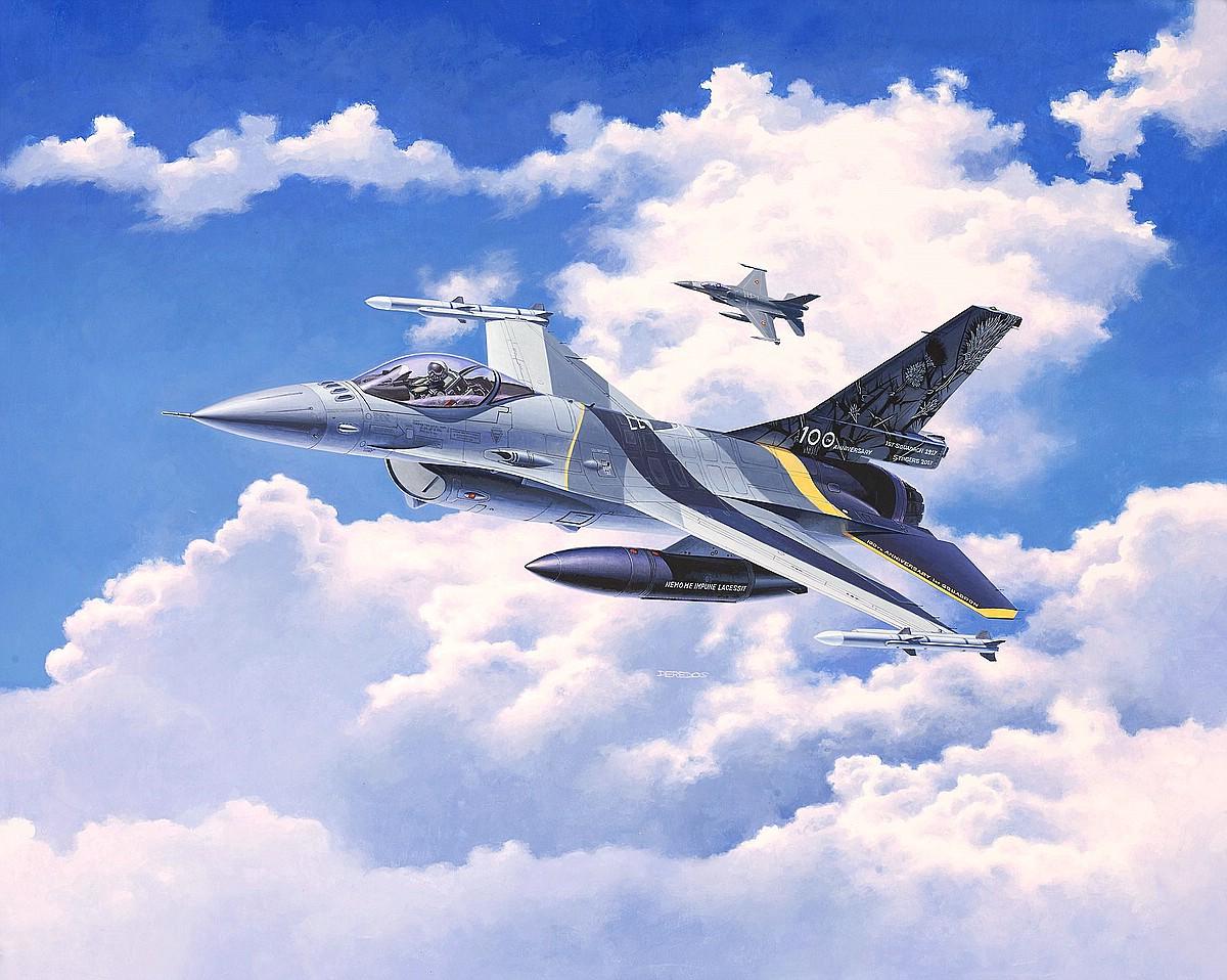 Revell-03905-F-16-Mlu-100th-Anniversary Die REVELL-Neuheiten Herbst 2017 und 1. Quartal 2018