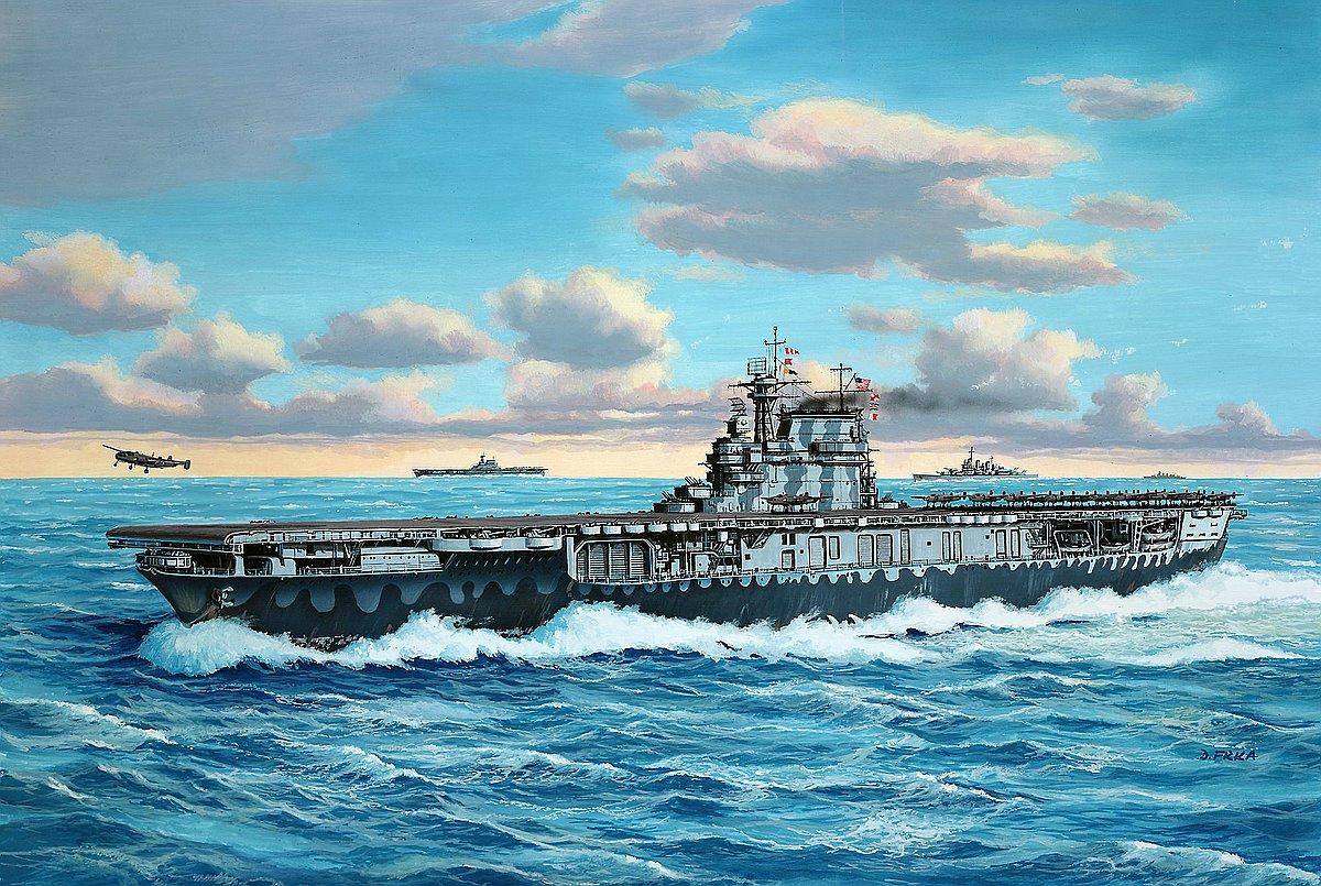 Revell-05823-USS-Hornet Die REVELL-Neuheiten Herbst 2017 und 1. Quartal 2018