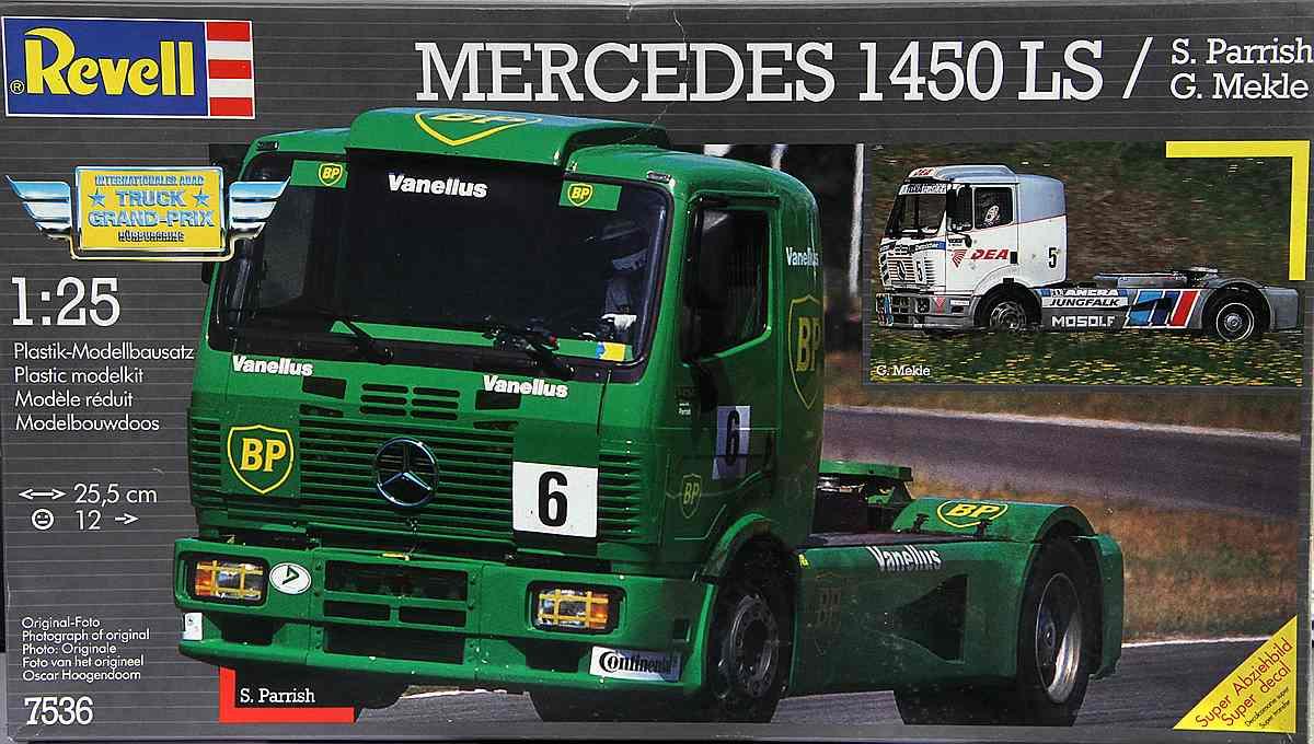 Revell-7536-Mercedes-1450-LS-BP-Racing-Truck-1 Kit Archäologie: Mercedes 1450 LS BP Racing Truck (Revell 1:25)