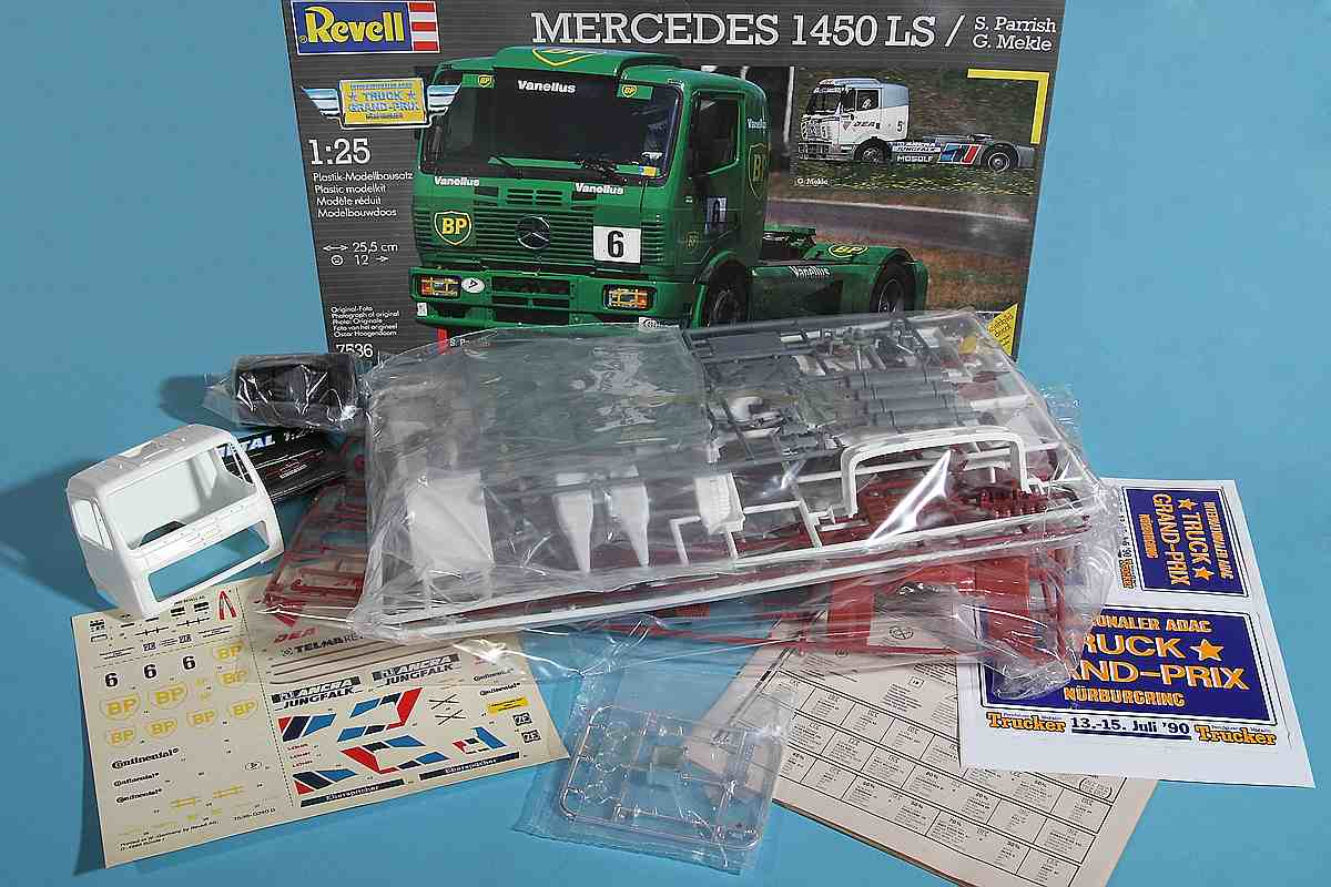Revell-7536-Mercedes-1450-LS-BP-Racing-Truck-6 Kit Archäologie: Mercedes 1450 LS BP Racing Truck (Revell 1:25)