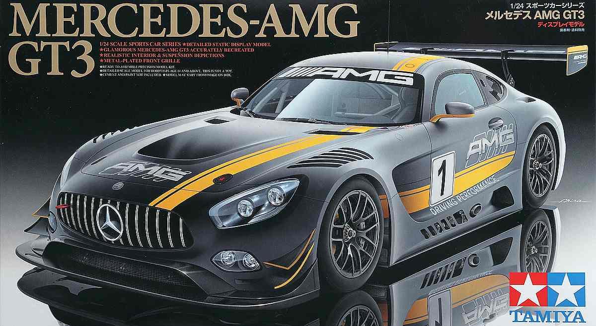 Tamiya-24345-Mercedes-AMG-GT-3-Deckelbild Mercedes AMG GT 3 in 1:24 Tamiya 24345