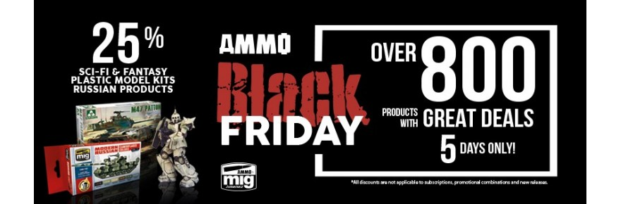"ammo-black-friday ""Black Friday"" mit starken Rabatten bei Ammo by Mig!"
