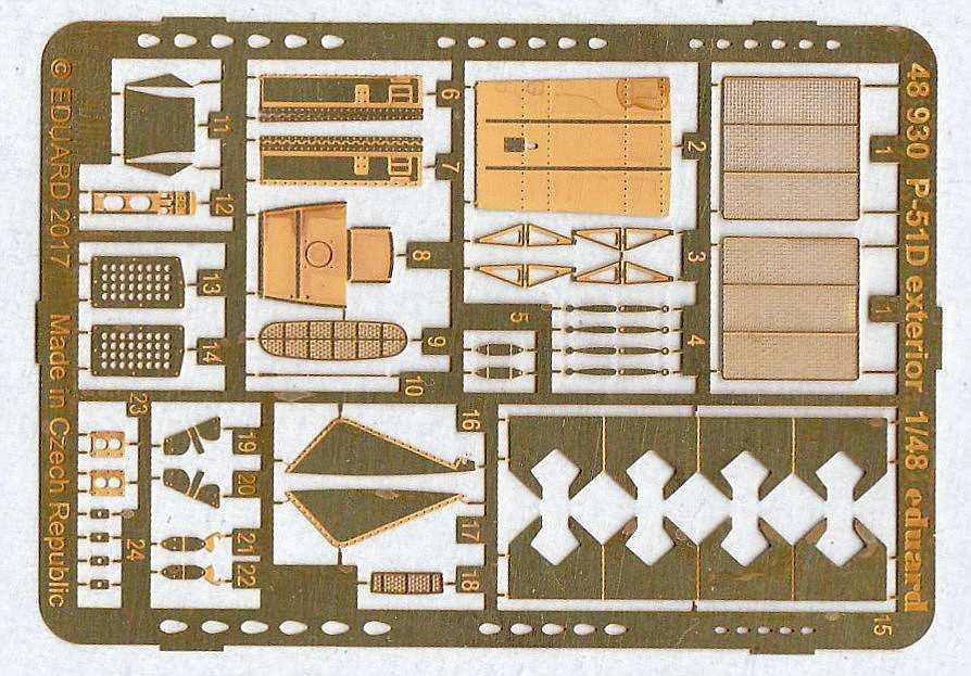 Eduard-48930-P-51D-Exterior-5 EDUARD Zubehörsets für die P-51D Mustang von Airfix in 1:48
