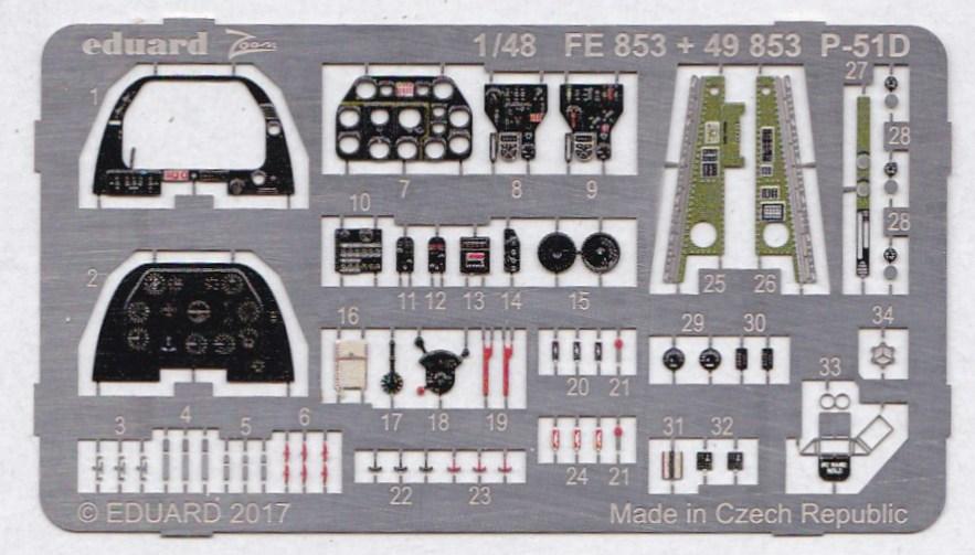 Eduard-49853-P-51D-Interior-1 EDUARD Zubehörsets für die P-51D Mustang von Airfix in 1:48