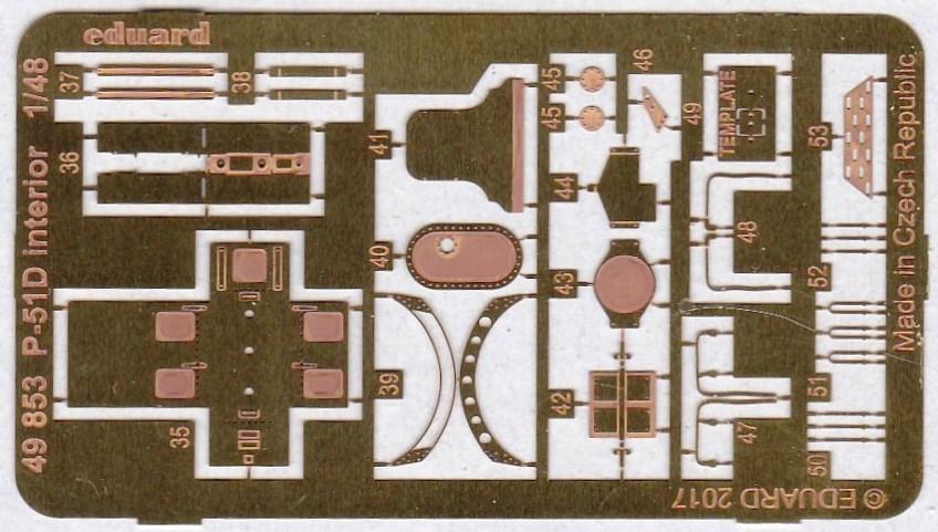 Eduard-49853-P-51D-Interior-3 EDUARD Zubehörsets für die P-51D Mustang von Airfix in 1:48