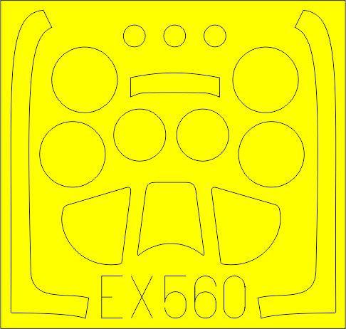 Eduard-EX-560-P-51D-Masken EDUARD Zubehörsets für die P-51D Mustang von Airfix in 1:48