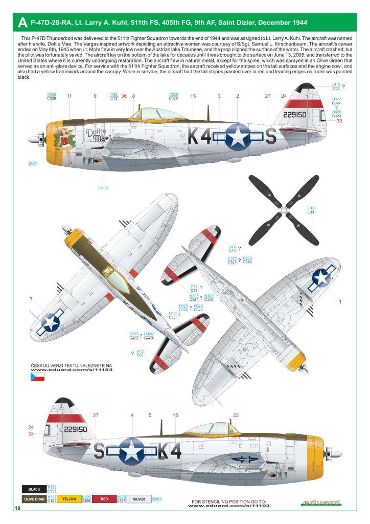 """Eduard_Dottie_Mae_11 P-47D """"Dottie Mae"""" - Eduard 1/32 (eduArt-Edition)"""