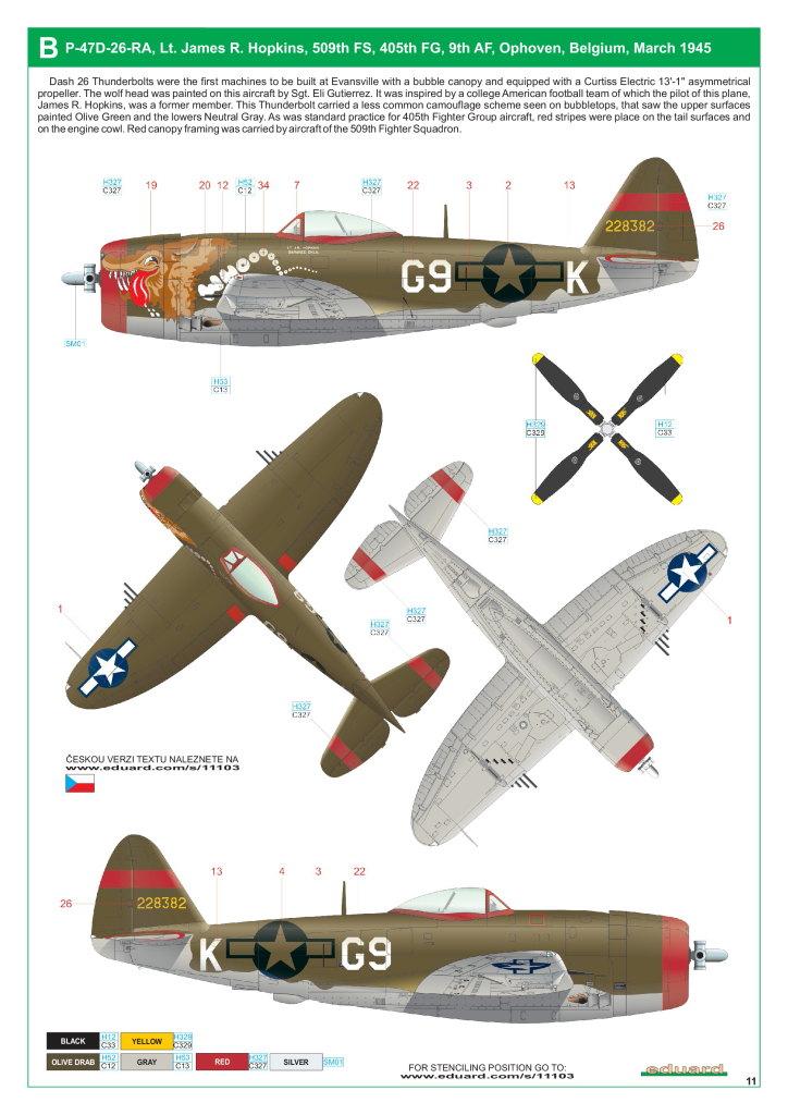 """Eduard_Dottie_Mae_12 P-47D """"Dottie Mae"""" - Eduard 1/32 (eduArt-Edition)"""