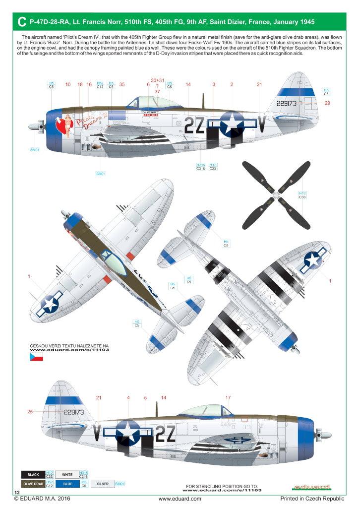 """Eduard_Dottie_Mae_13 P-47D """"Dottie Mae"""" - Eduard 1/32 (eduArt-Edition)"""