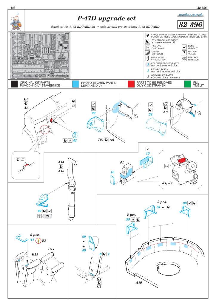 Eduard_Dottie_Mae_Update-Set_06 Upgrade-Set für die P-47D von Eduard / Hasegawa --- Eduard 1/32