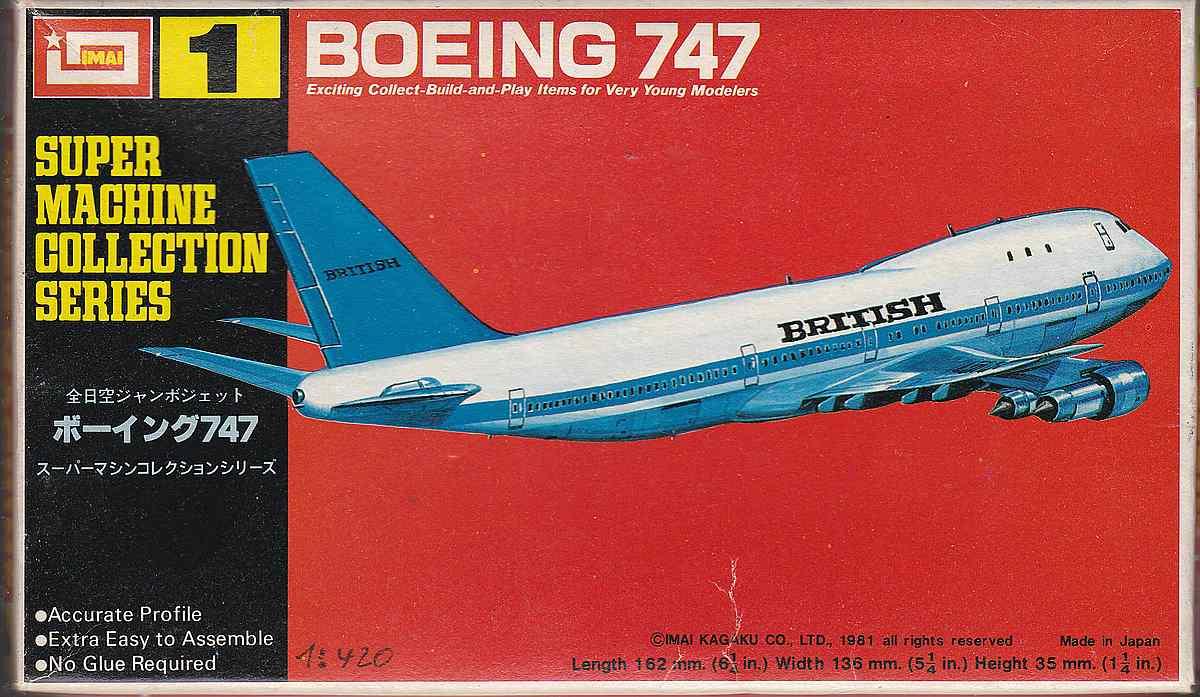 IMAI-Super-Machine-series-1-Boeing-747-Jumbo-1 Kit-Archäologie - heute: Starfix Tupolev Tu-16 im Maßstab 1:200
