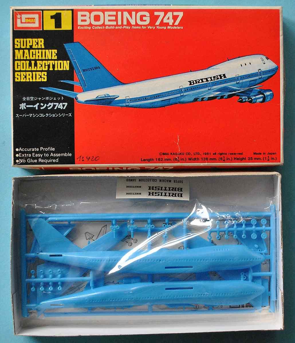 IMAI-Super-Machine-series-1-Boeing-747-Jumbo-5 Kit-Archäologie - heute: Starfix Tupolev Tu-16 im Maßstab 1:200