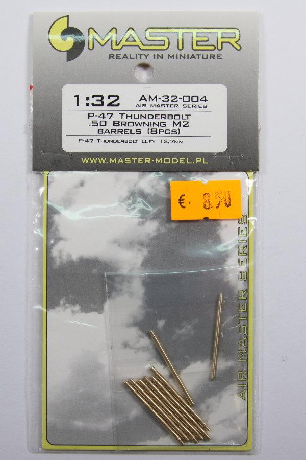 Master_P-47_Barrels_03 MG-Läufe für die P-47 in 1/32 (Hasegawa/Eduard/Trumpeter) - Master Model