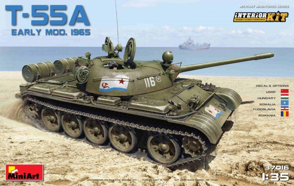 MiniArt-37016-T-55A-1965-with-Interior-Deckelbild Neuer T-55A Mod. 1965 im Maßstab 1:35 von MiniArt (37016 und 37057)