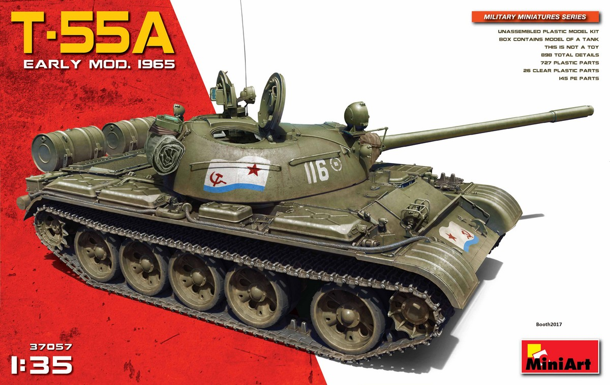 MiniArt-37057-T-55A-Mod.-1965-ohne-Interior-Deckelbild Neuer T-55A Mod. 1965 im Maßstab 1:35 von MiniArt (37016 und 37057)