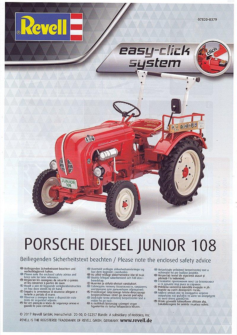 Revell-07820-Porsche-Diesel-Junior-108-Bauanleitung-1 Porsche Diesel Junior 108 in 1:24 von Revell 07820