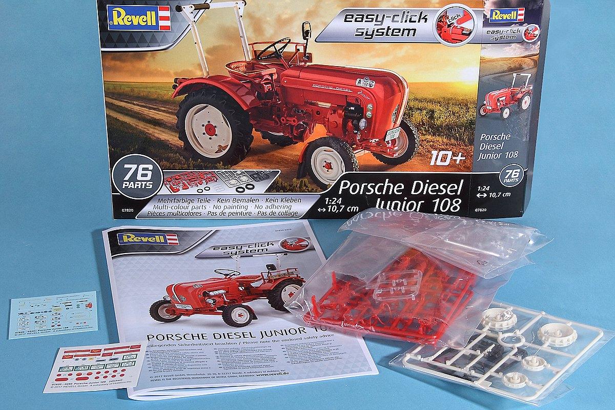 Revell-07820-Porsche-Diesel-Junior-108-Inhalt Porsche Diesel Junior 108 in 1:24 von Revell 07820