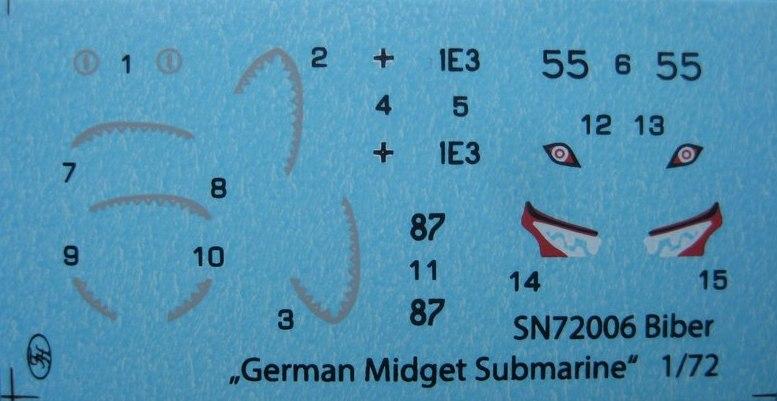 """Special-Navy-SN-72006-Biber-10 Kleinst U-Boot """"Biber"""" in 1:72 von Special Navy SN 72006"""
