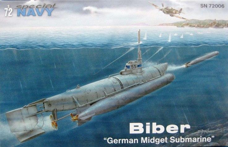 """Special-Navy-SN-72006-Biber-12 Kleinst U-Boot """"Biber"""" in 1:72 von Special Navy SN 72006"""