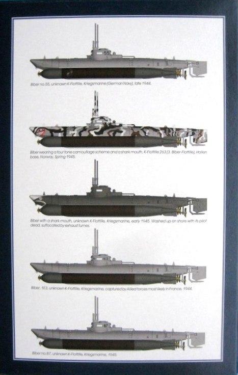 """Special-Navy-SN-72006-Biber-13 Kleinst U-Boot """"Biber"""" in 1:72 von Special Navy SN 72006"""