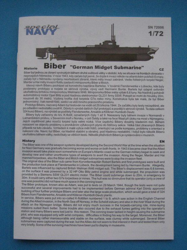 """Special-Navy-SN-72006-Biber-17-e1512572656895 Kleinst U-Boot """"Biber"""" in 1:72 von Special Navy SN 72006"""