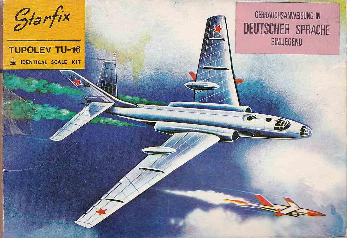 Starfix-Tupolev-TU-16-1 Kit-Archäologie - heute: Starfix Tupolev Tu-16 im Maßstab 1:200
