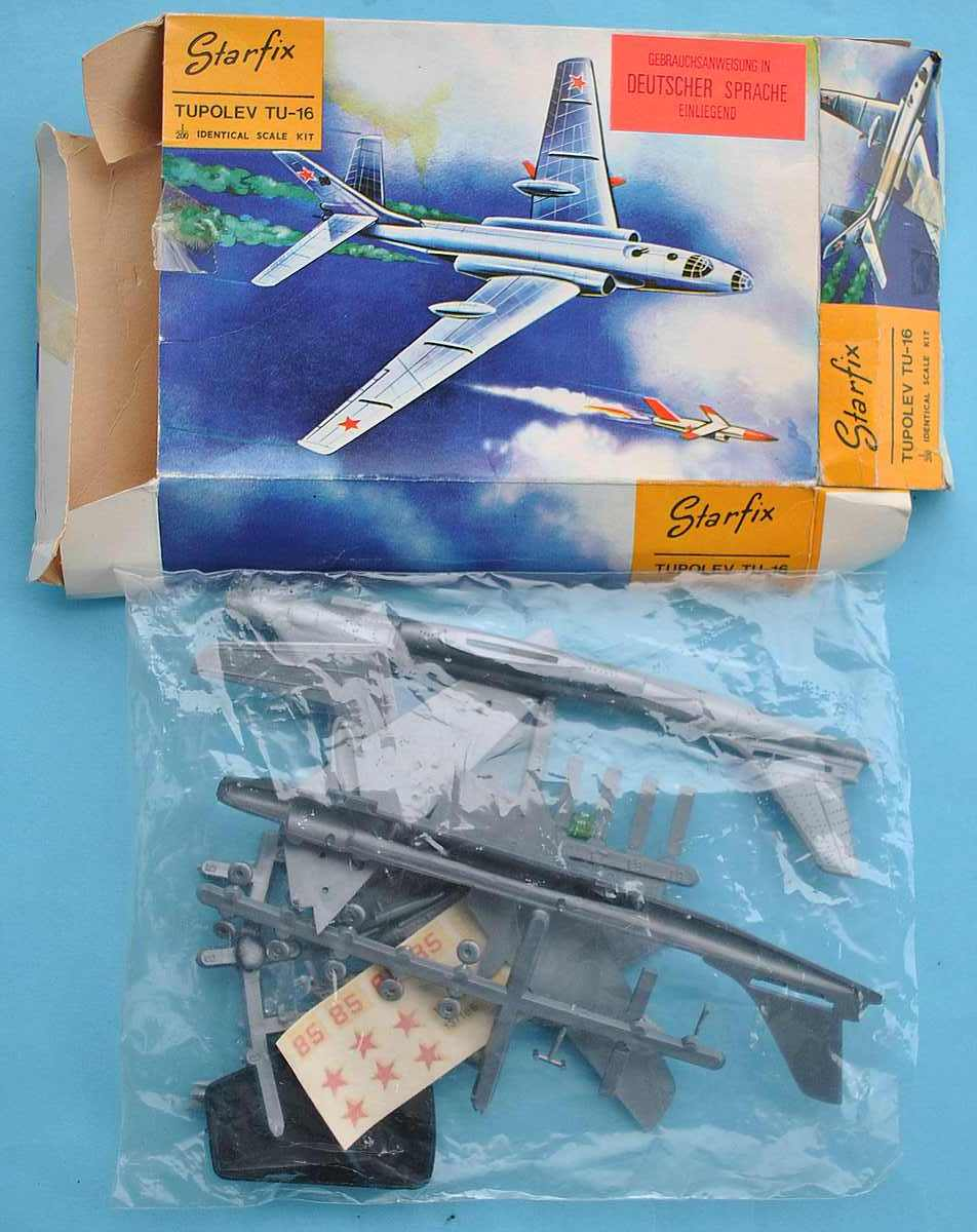 Starfix-Tupolev-TU-16-9 Kit-Archäologie - heute: Starfix Tupolev Tu-16 im Maßstab 1:200