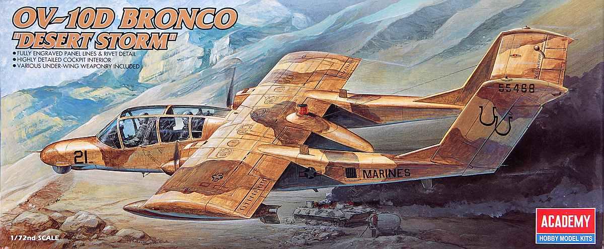 """Academy-OV-10D-Bronco-Desert-Storm-1 OV 10 D Bronco """"Desert Storm"""" in 1:72 von Academy"""