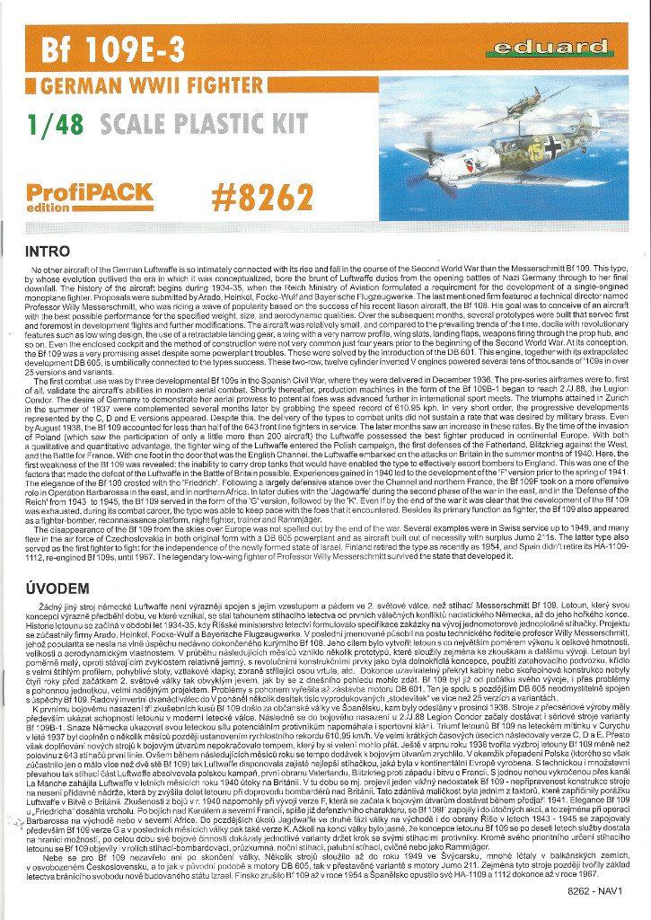 Anleitung01-2-725x1024 Bf 109 E-3 1:48 Eduard ProfiPACK (#8262)